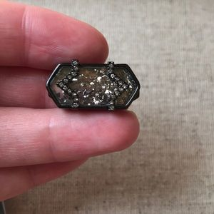 KEEP Collective Confetti Geo Bar. Pave Hematite